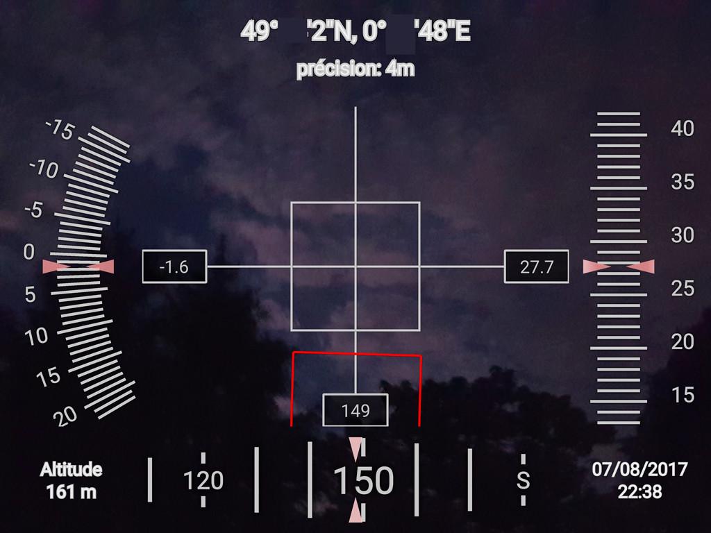 Androïd ou  Apple ...   un outil intéressant en cas d'observation  ! Geocam11