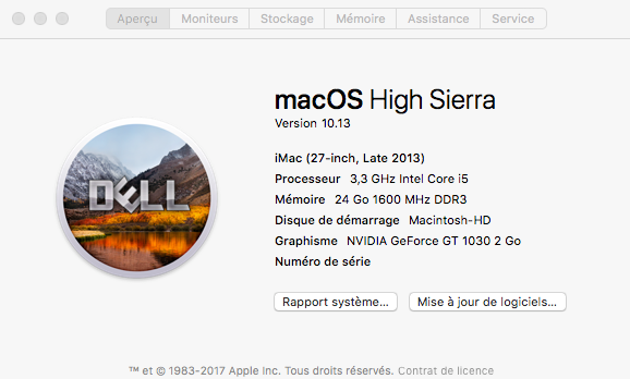 Web Drivers 10.13 macOS High Sierra NVIDIA GeForce GT 1030 Captu176