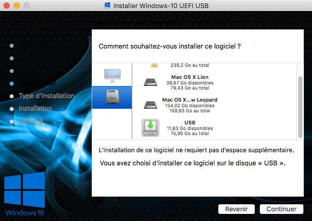 Création USB Windows 10 UEFI dans macOS - Page 2 Captur24