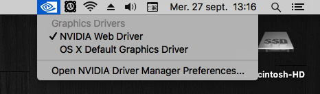 Web Drivers 10.13 macOS High Sierra NVIDIA GeForce GT 1030 Sans_109