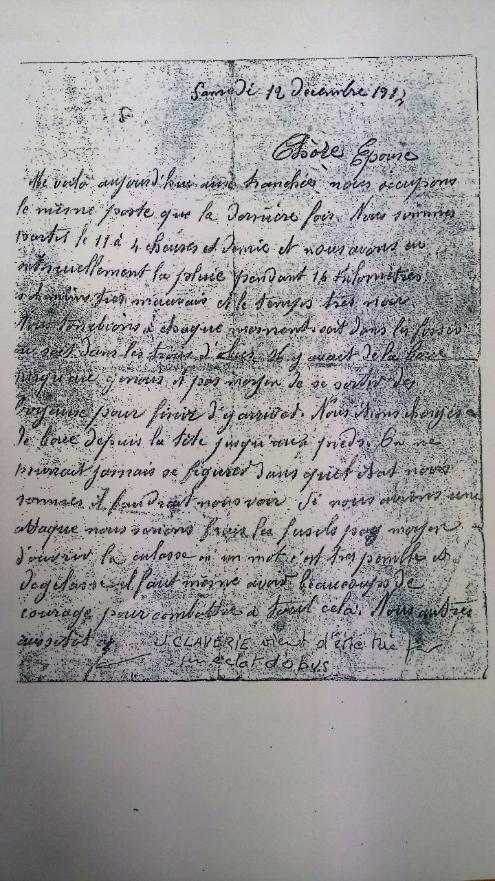 Lettres de Poilu  - Page 2 Claver10