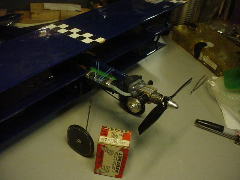 Roddie's Cox-powered triplane Dsc04445