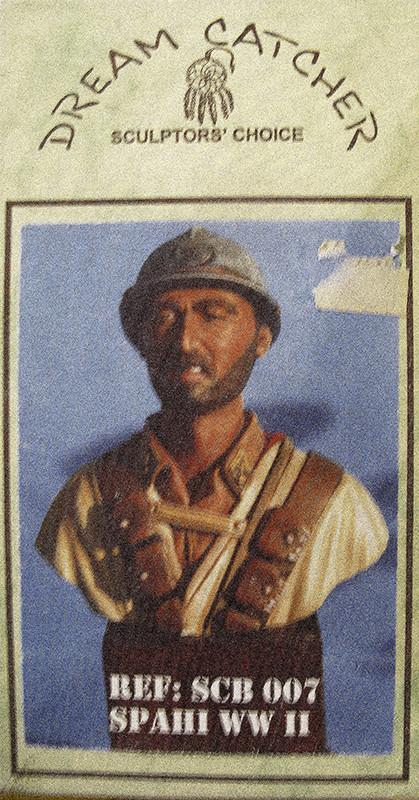 Spahi du 1er Régiment de Spahis Marocains - 1940 - Buste Dream Catcher (ref SCB07) - 200mm - Acryliques Dream_10
