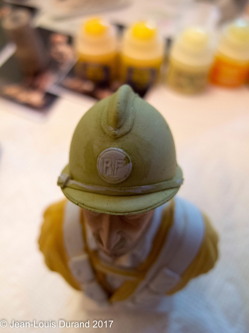 Spahi du 1er Régiment de Spahis Marocains - 1940 - Buste Dream Catcher (ref SCB07) - 200mm - Acryliques Img_9024