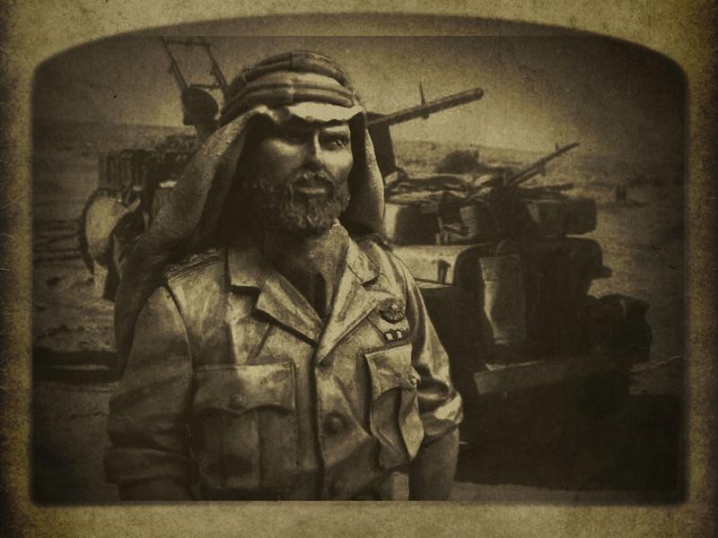 TERMINE - Officier SAS, Le Caire 1942 - YOUNG MINIATURES - 90mm - Acryliques Sas10
