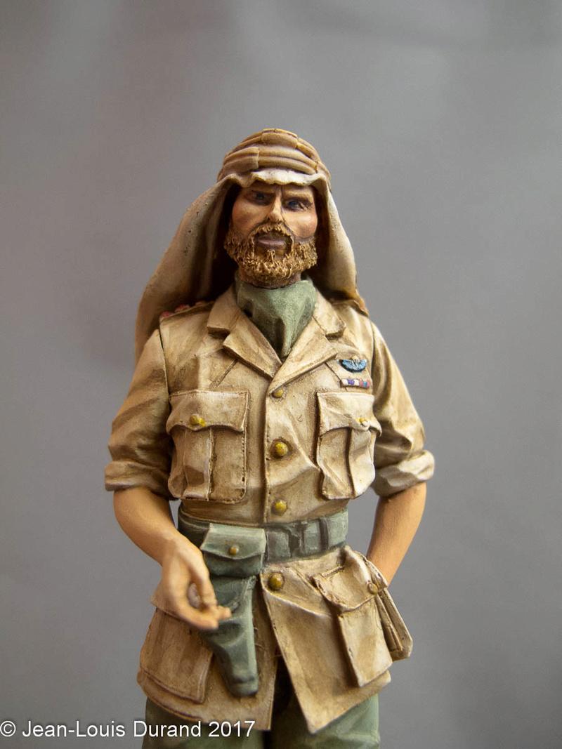 TERMINE - Officier SAS, Le Caire 1942 - YOUNG MINIATURES - 90mm - Acryliques Sas_1931