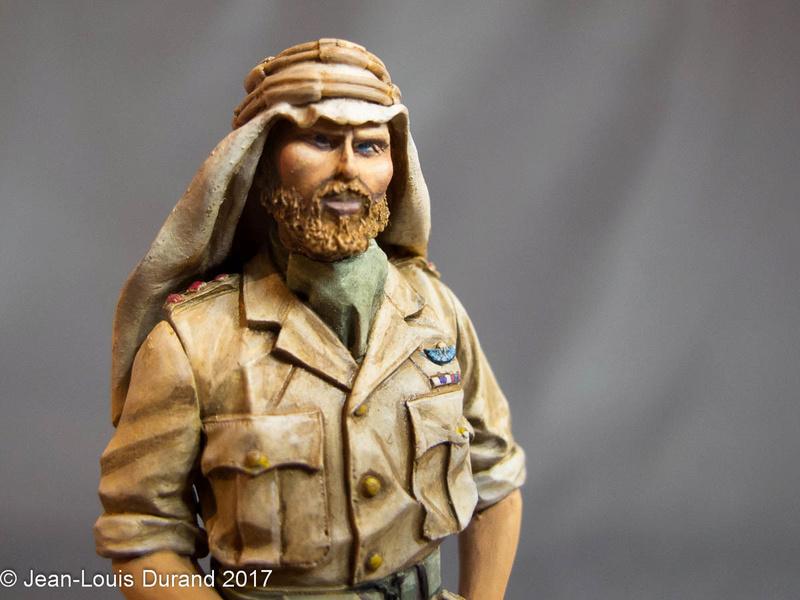 TERMINE - Officier SAS, Le Caire 1942 - YOUNG MINIATURES - 90mm - Acryliques Sas_1943