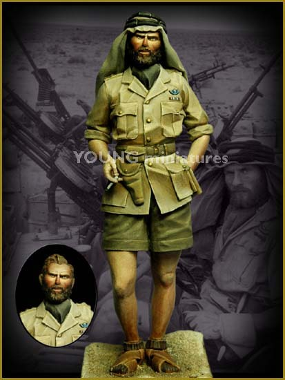 TERMINE - Officier SAS, Le Caire 1942 - YOUNG MINIATURES - 90mm - Acryliques Young_10