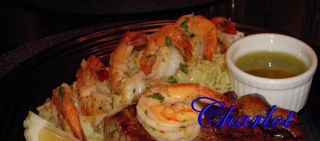 Crevettes sautées à l'ail et au vin blanc Crevet10