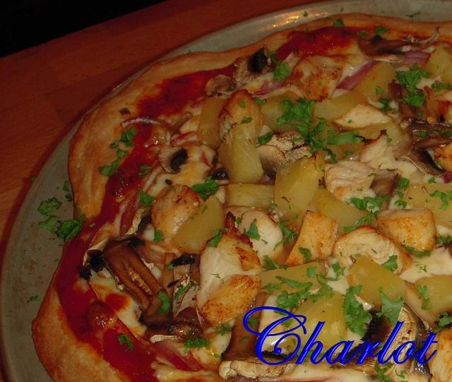 Pizza au poulet BBQ Pizza110
