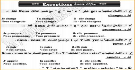 مذكرة قواعد اللغة الفرنسية ثالثة ثانوى 27 ورقة pdf 0256