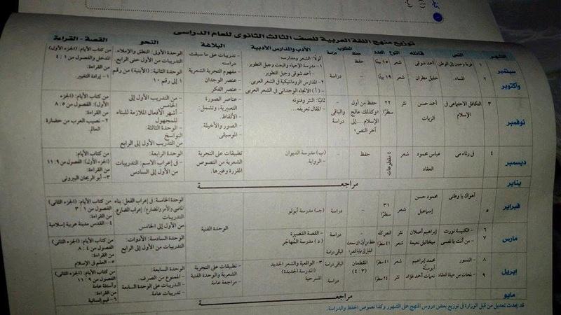 توزيع منهج اللغة العربية الجديد للصف الثالث الثانوي 2017/2018 327