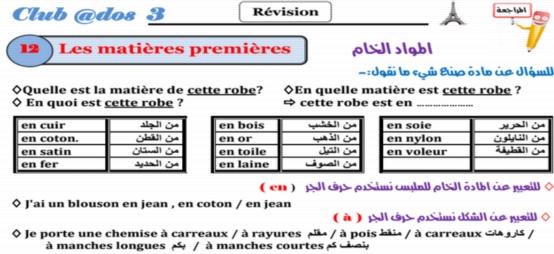 مراجعة اللغة الفرنسية للصف الثالث الثانوي 2018.. 61 ورقة pdf 622