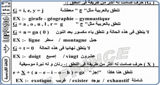 شرح صوتيات اللغه الفرنسيه للصف الثالث الثانوى 2018 6623