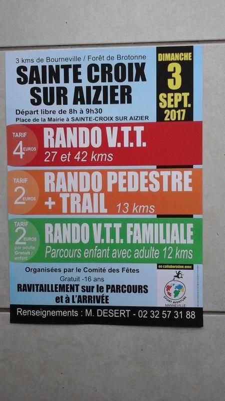 [03 09 2017] RANDO 27 & 42 km Ste CROIX SUR AIZIER 27500 20170817