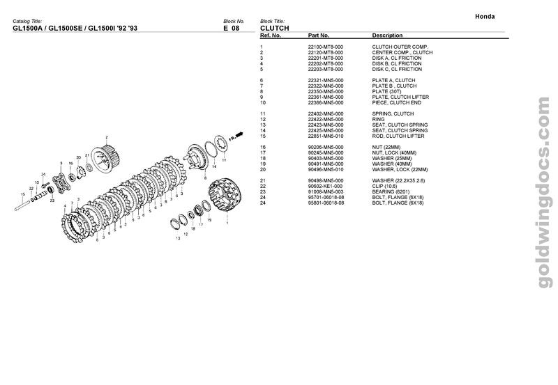 Demande d'info Roulement de débrayage GL 1500 Honda10