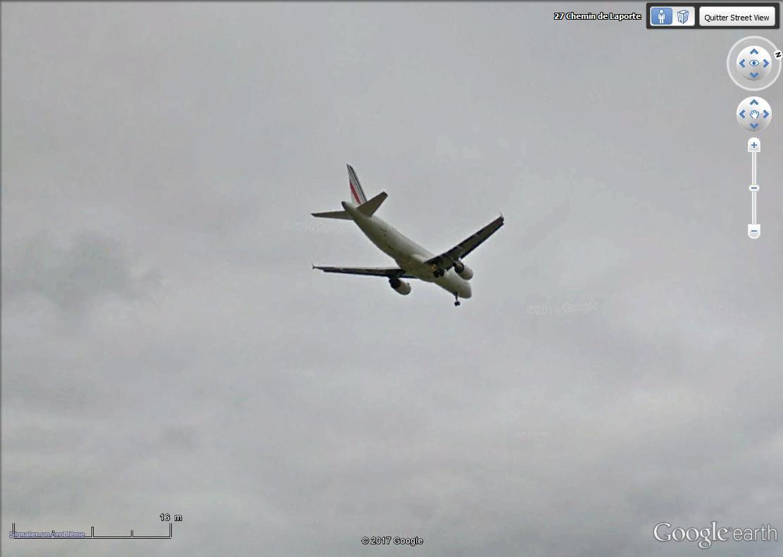 Avion  en VOL  vue Street View Avion_10