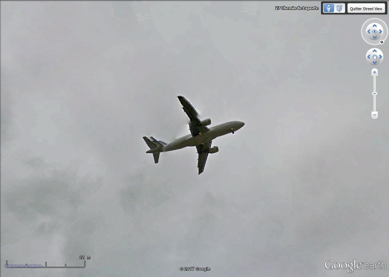 Avion  en VOL  vue Street View Avion_13