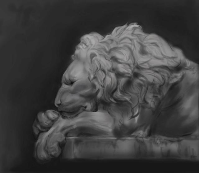 Etudes entre autres ... Lion12