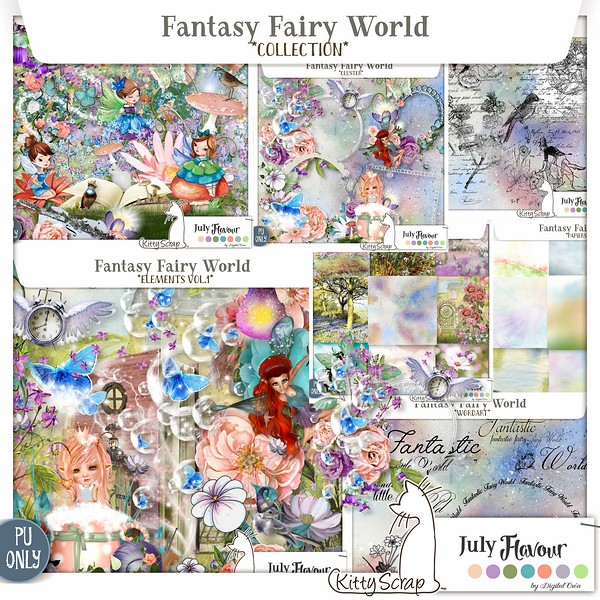 Fantasy fairy world de Kittyscrap Fantas10