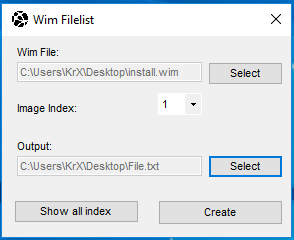 [KrX Product] WIm Filelist Wimfil11