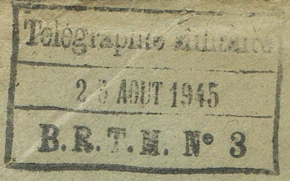TAD  «  B.R.T.M. N° 3  »  à  MULHOUSE Le bureau régulateur de télégraphie militaire (BRTM) .  Ccf07011