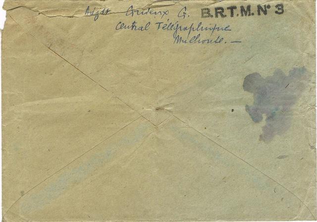 TAD  «  B.R.T.M. N° 3  »  à  MULHOUSE Le bureau régulateur de télégraphie militaire (BRTM) .  Ccf07013