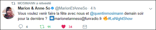 [12/07/2017-20h00]  Fun Radio - Marion et  Anne  So  le night show  Captu172