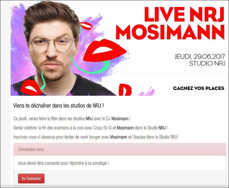 [29/06/2017- 16H00] NRJ Belgique - Live NRJ  Mosimann   Captur12