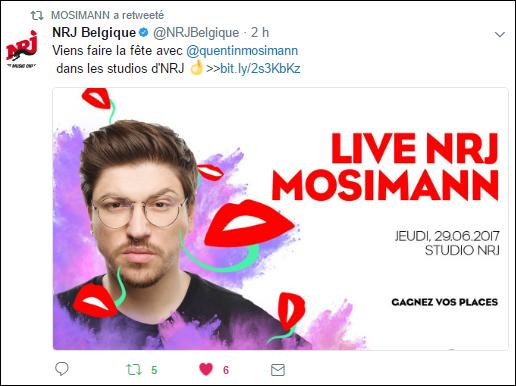 [29/06/2017- 16H00] NRJ Belgique - Live NRJ  Mosimann   Captur15