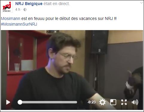 [29/06/2017- 16H00] NRJ Belgique - Live NRJ  Mosimann   Casque40