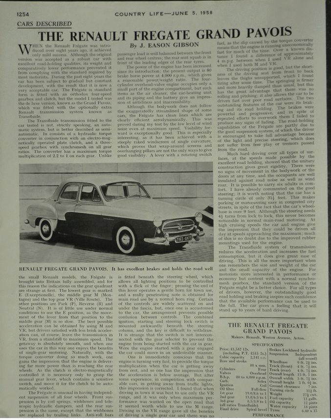 Un essai de Grand-Pavois en 1958 chez les Rosbifs Captur16