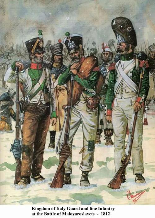 Chasseur de la Garde Royale (Royaume d'Italie) Bataille de Maloyaroslavets Russie 1812 304bcd11
