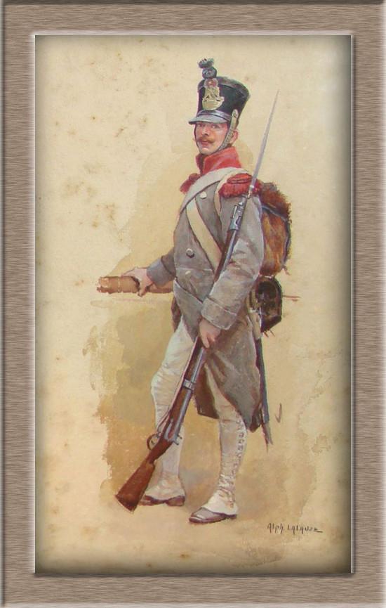 Grenadier de la ligne en manteau 1812 7bad2411
