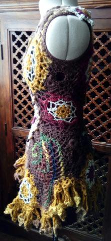 FREE FORM CROCHET : Robe au Crochet Laine Automne  Croche20