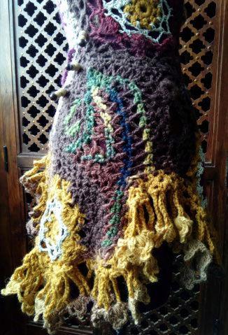 FREE FORM CROCHET : Robe au Crochet Laine Automne  Croche21