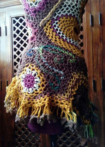 FREE FORM CROCHET : Robe au Crochet Laine Automne  Croche23