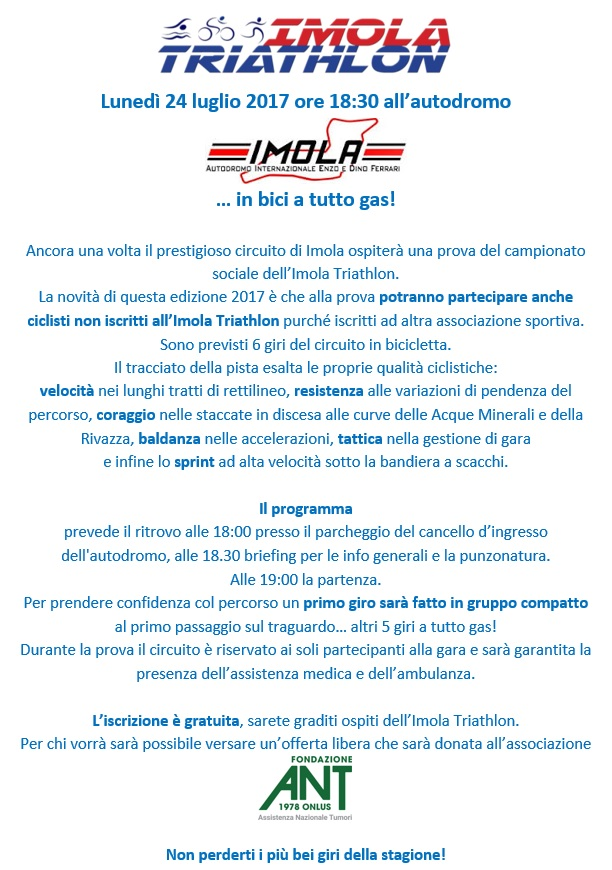 Campionato sociale 2017 10° prova - Lunedì 24/07/2017 Give me Five (circuito Imola) Giveme10