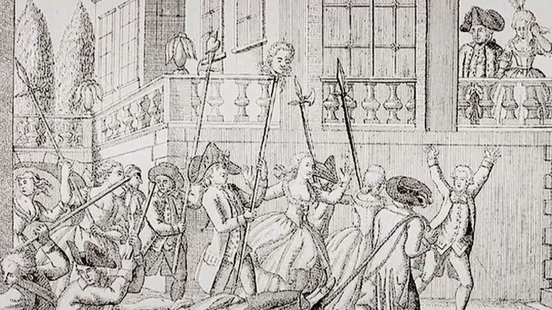 03 septembre 1792: L'effroyable dépeçage de la princesse de Lamballe par les égorgeurs sans-culottes Tylych47
