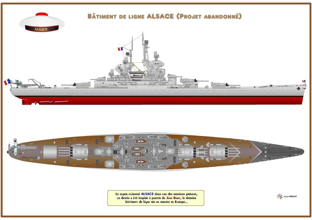 Super cuirassé Français (classe Alsace, never were) au 1/400 Alsace11