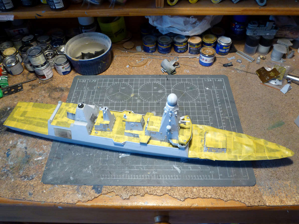 HMS DRAGON Destroyer Type 45 Airfix 1/350 + P.E Bigblueboy - Page 3 Hms_dr36