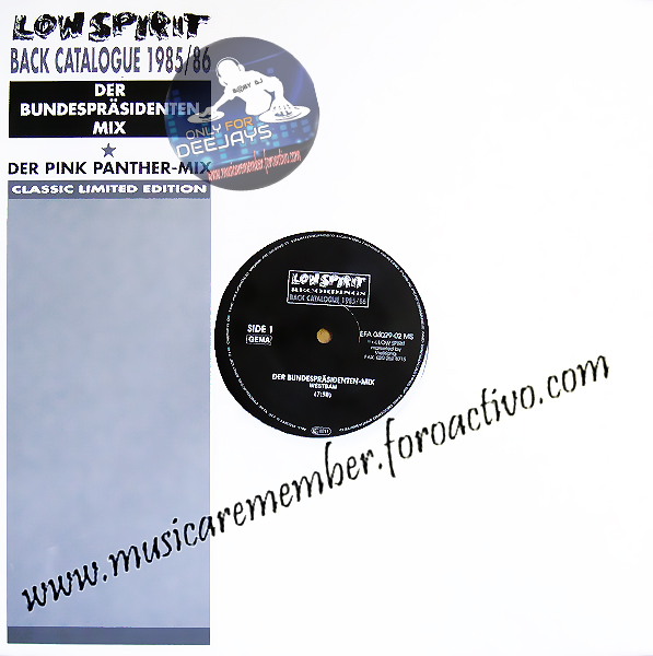 Westbam - Der Bundesprasidenten-Mix & Der Pink Panther-Mix (12' Vinil) [1990] Fronta12