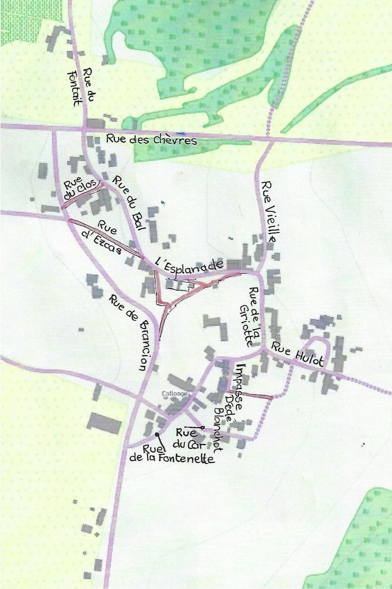 Plans des hâmeaux de la Chapelle-Sous-Brancion 71700 111
