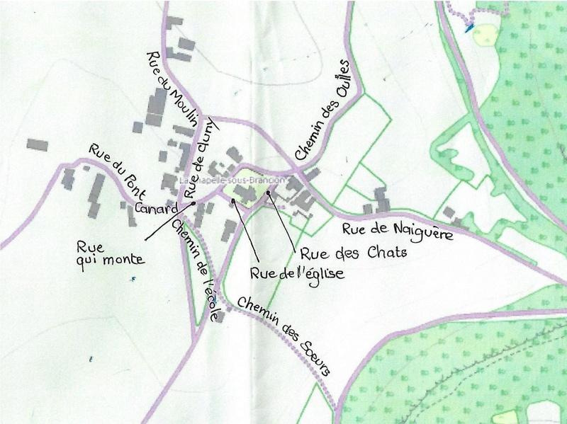 Plans des hâmeaux de la Chapelle-Sous-Brancion 71700 113