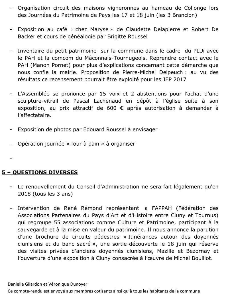 compte-rendu de l'Assemblée Générale du 24 juin 2017 410