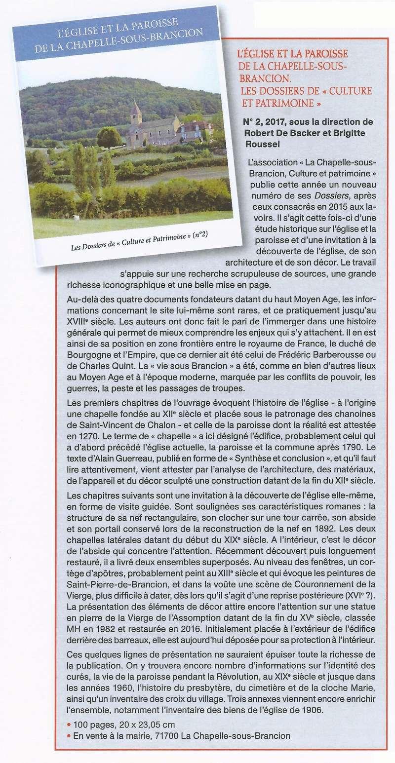 Article Image de Saône et Loire sur l'église et la paroisse de la Chapelle-sous-Brancion Articl10
