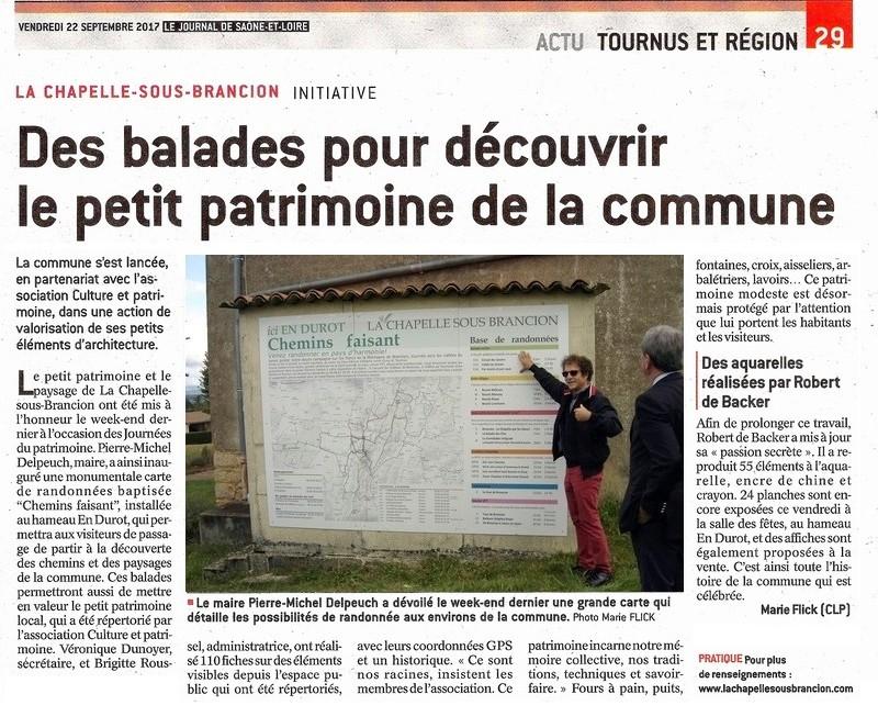 LA CHAPELLE-SOUS-BRANCION - INITIATIVE : Des balades pour découvrir le petit patrimoine de la commune Jsl_2210