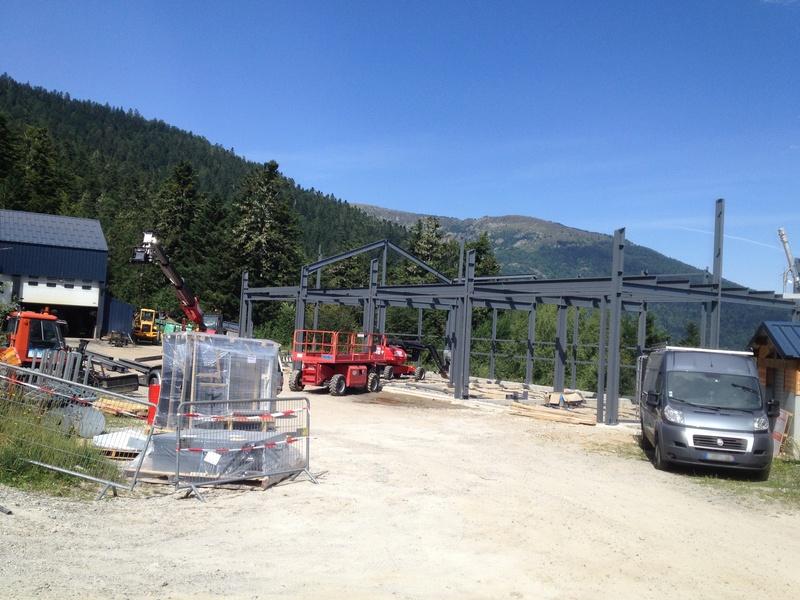 Construction d'un nouveau hangar à dameuses Ax 3 Domaines Image_17