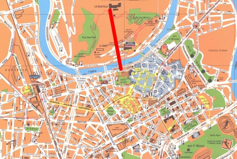 Téléphérique de Grenoble Bastille Mappa_10