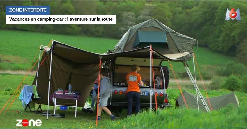 Publi reportage sur un bivouac famililal en teardrop off road. TipTop Europe. France10